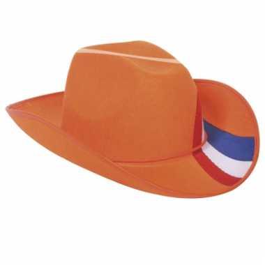 Oranje cowboy hoed nederland