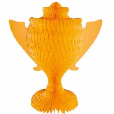 Oranje cup decoratie