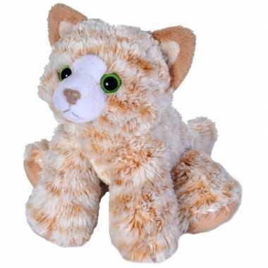 Oranje cyperse katten/poezen knuffels 18 cm knuffeldieren