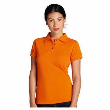 Oranje dames poloshirts