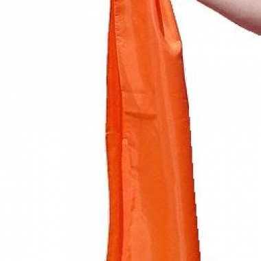 Oranje dames sjaal polyester 140cm
