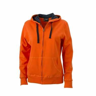 Oranje dames sweater vesten
