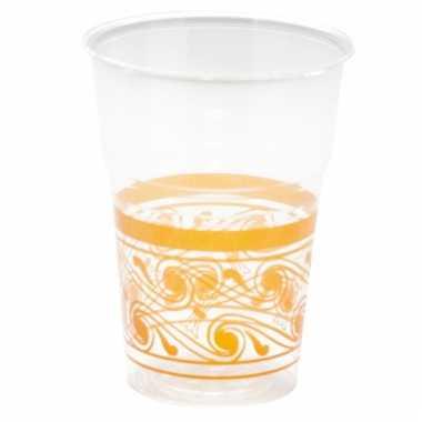 Oranje decoratie wegwerp bekertjes 10 stuks