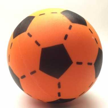 Oranje foam voetbal 20 cm