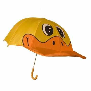 Oranje/gele eenden jongens paraplu