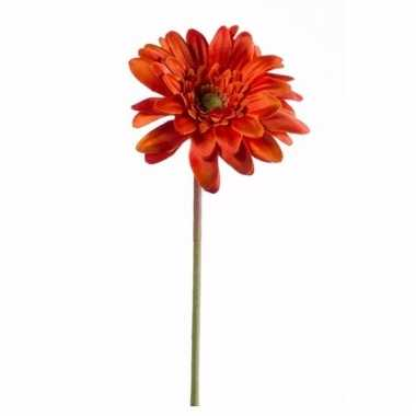 Oranje gerbera kunstbloem 47 cm