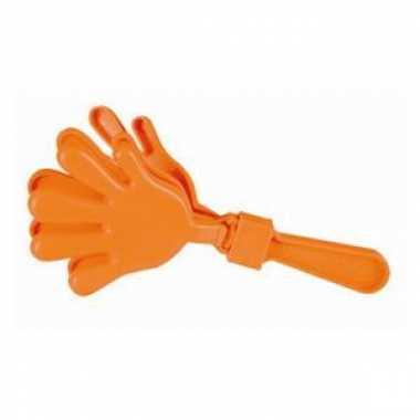 Oranje handklapper 23.5 cm groot