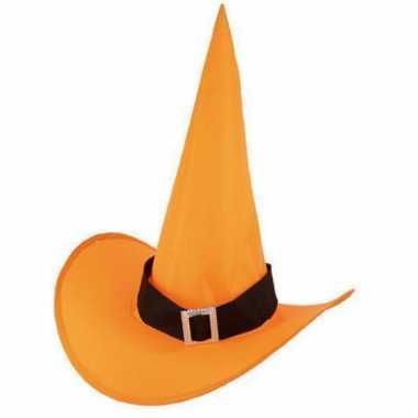 Oranje heksenhoed voor volwassenen