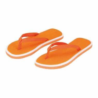 Oranje heren slippers