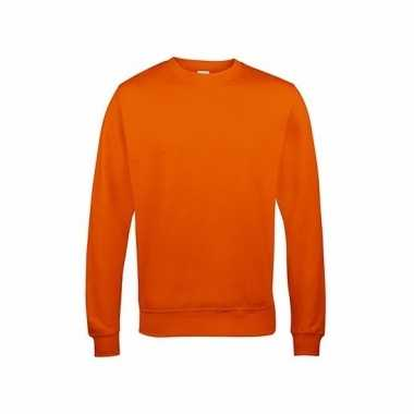 Oranje heren sweater