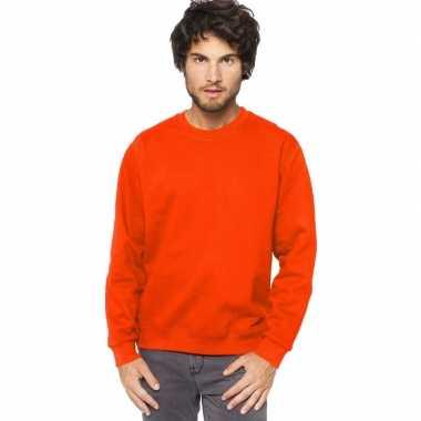 Oranje heren truien/sweaters met ronde hals