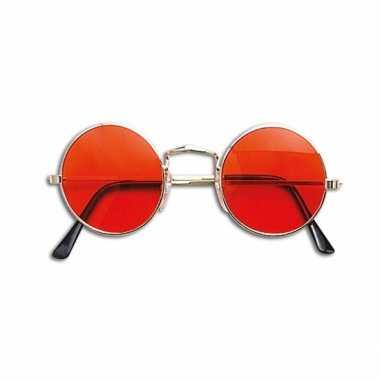 Oranje hippie dames en heren bril