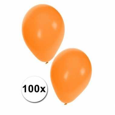Oranje holland ballonnen, 100 st