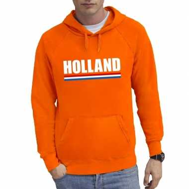 Oranje holland supporter hooded sweater heren