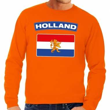 Oranje holland vlag trui heren