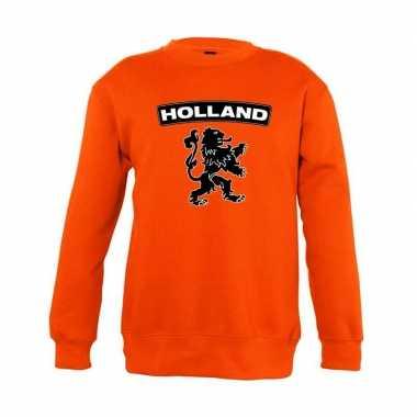 Oranje holland zwarte leeuw trui jongens en meisjes