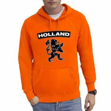 Oranje hoodie holland leeuw voor heren