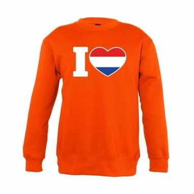 Oranje i love holland trui jongens en meisjes
