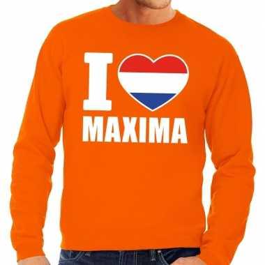 Oranje i love maxima trui heren