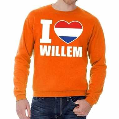 Oranje i love willem trui heren