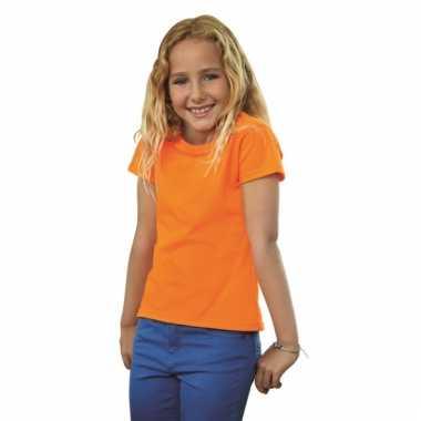 Oranje katoenen shirt voor meiden