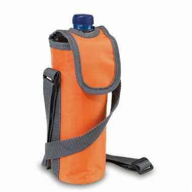 Oranje koeltas voor fles 0.5 liter