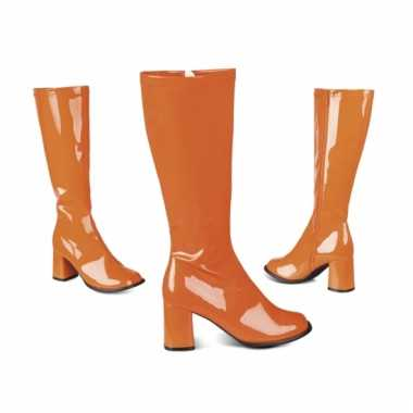 Oranje laarzen voor dames