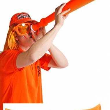Oranje mega toeter uitschuifbaar