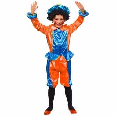 Oranje met blauw pietenpak voor kids