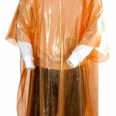 Oranje noodponcho