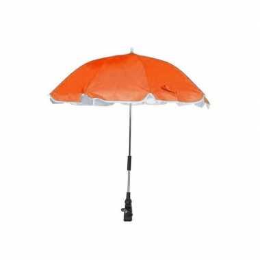 Oranje parasol voor aan een stoel of kinderwagen 100 cm