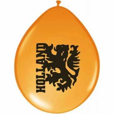 Oranje party ballonnen met leeuw