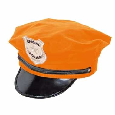 Oranje politie petten