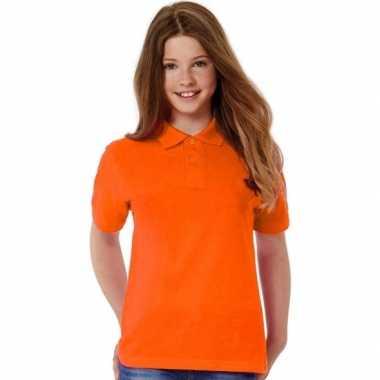 Oranje poloshirt voor meisjes