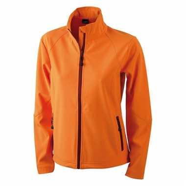 Oranje polyester dames wind jasje