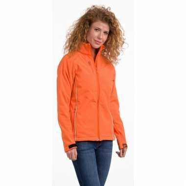 Oranje polyester damesjas