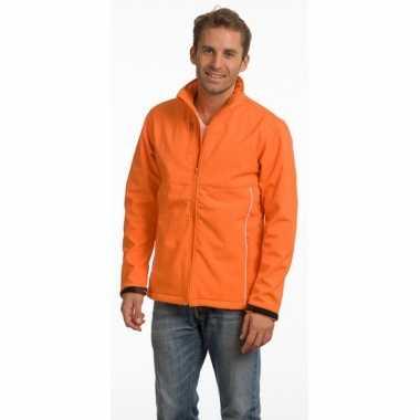 Oranje polyester herenjas