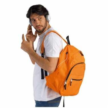 Oranje rugtas voor volwassenen 38 cm