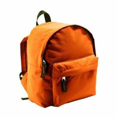Oranje rugzak voor kinderen 9 liter