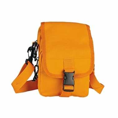 Oranje schoudertasjes 18 cm