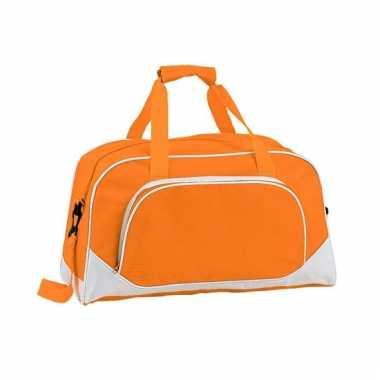 Oranje sport tas 42 cm