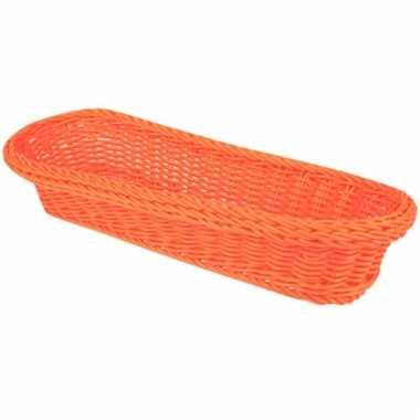 Oranje stokbrood mandje 37,5 cm