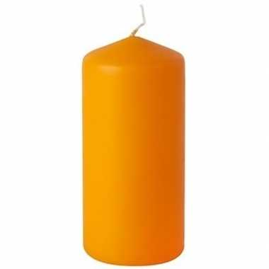 Oranje stompkaars 15 cm 45 branduren