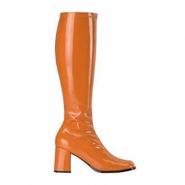 Oranje stretch laarzen