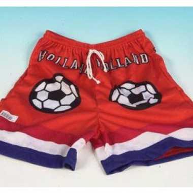 Oranje supporter voetbal shorts