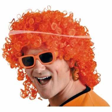 Oranje supporters pruik