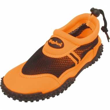 Oranje surfschoenen met trekkoord