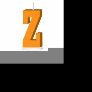 Oranje taart kaarsje letter z