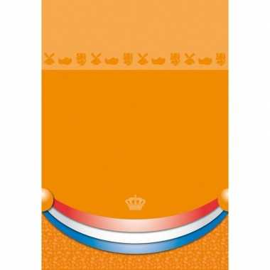 Oranje tafelkleden 180 x 130 cm
