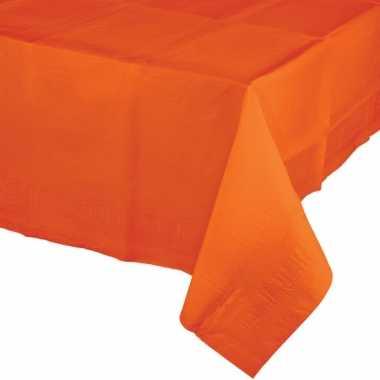 Oranje tafelkleden van papier